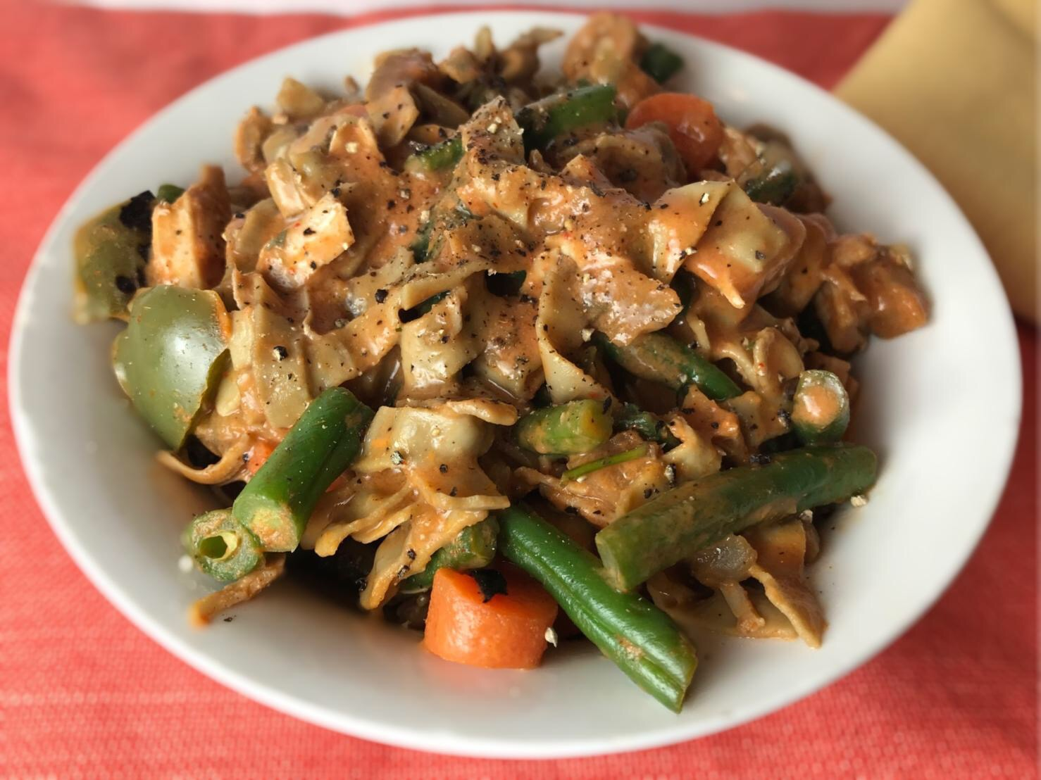 Red Thai Curry With Mung Bean Noodles